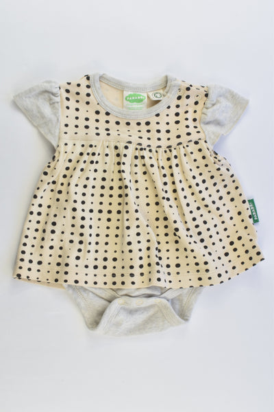Parade Size 00 (3-6 months) Organic Dress with Bodysuit Underneath