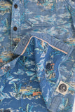 Piping Hot Size 8 Beach Collared Shirt