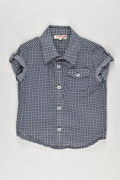 Plum Size 0 (6-12 months) Collared Shirt, short sleeves