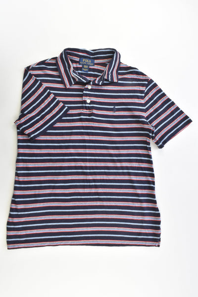 Polo Ralph Lauren Size 10-12 Striped Collared T-shirt