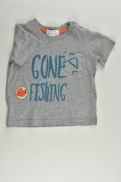 Pumpkin Patch Size 0 (6-12 months) 'Gone Fishing' T-shirt