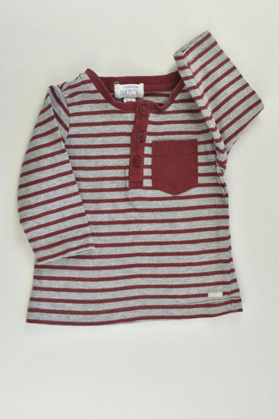 Pumpkin Patch Size 00 (3-6 months) Striped Top