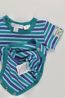 Pumpkin Patch Size 000 (0-3 months, 62 cm) Striped Bodysuit