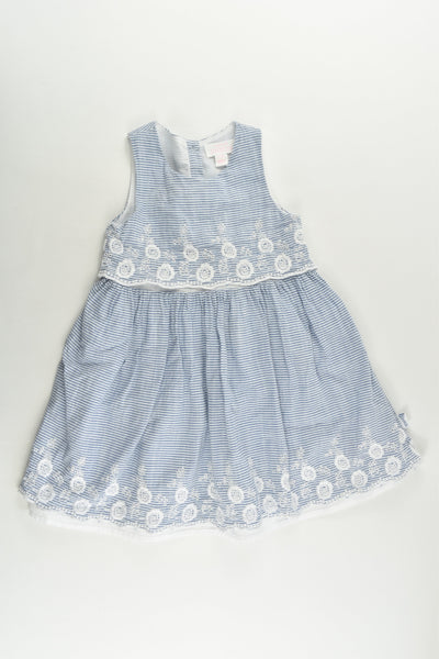 Pumpkin Patch Size 1 (12-18 months) Lined Dress with Lace Details