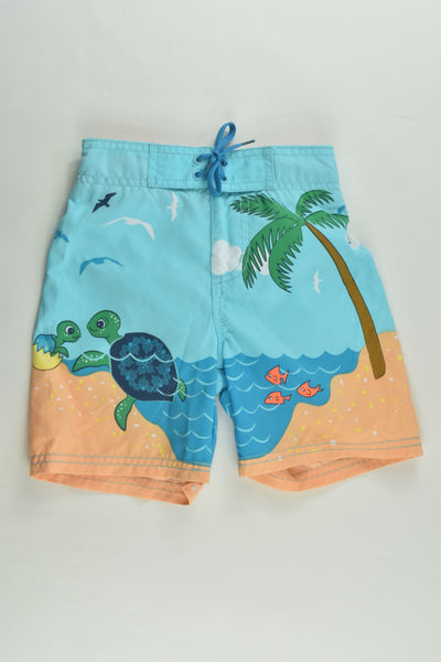 Pumpkin Patch Size 1 (12-18 months) Sea Turtles Board Shorts
