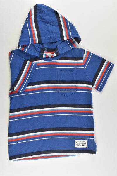 Pumpkin Patch Size 4 Striped Hooded T-shirt