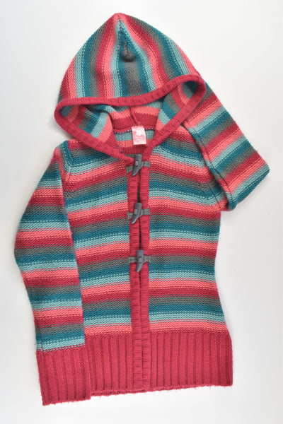 Pumpkin Patch Size 7 Knitted Hooded Jumper