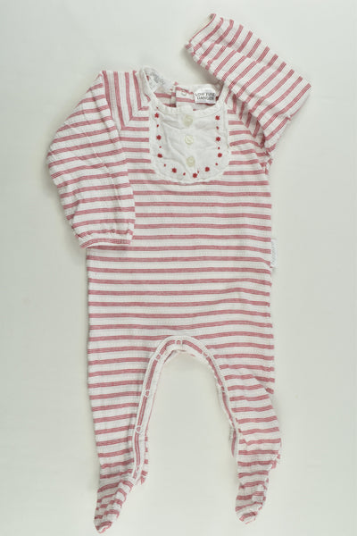Purebaby Size 000 Striped Footed Romper
