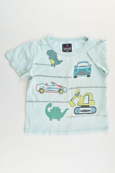 R&B Size 1 (12-18 months) Vehicles and Dinosaurs T-shirt