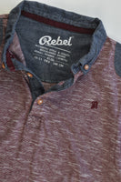Rebel Size 10-11 Collared T-shirt
