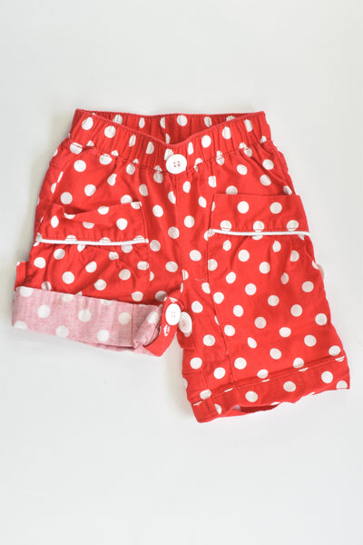 Rock Your Baby Size 0 (6-12 months, 80 cm) Polka Dots Shorts