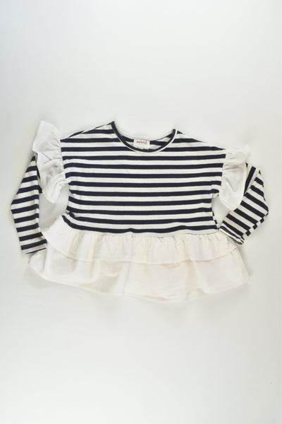 Seed Heritage Size 3 Striped Ruffle Top