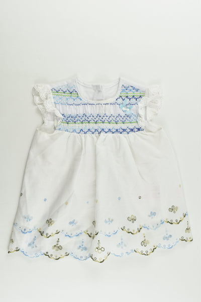 Smile Size approx 0 Lined Smocked Dress