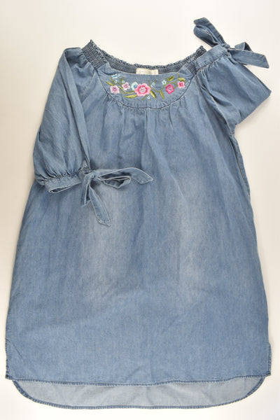 Somerset Bay Size 11-12 Lightweight Denim Dress with Floral Embroidery