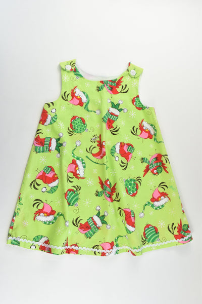 Soojay Designs Size 4 Christmas Birds Dress
