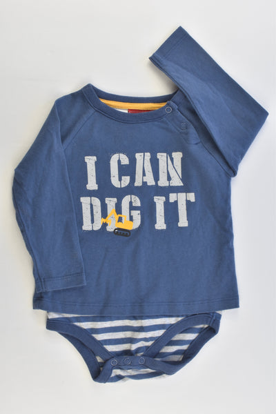 Sprout Size 0 'I Can Dig It' Bodysuit