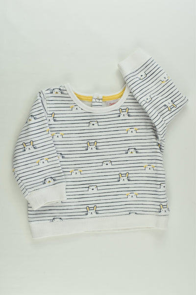 Sprout Size 00 Animals Sweater