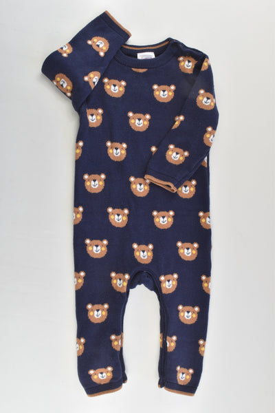 Sprout Size 00 Bears Knitted Romper