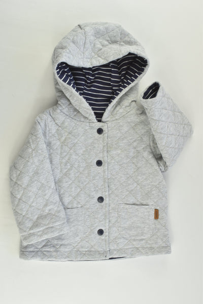 Sprout Size 00 Reversible Padded Hooded Jumper