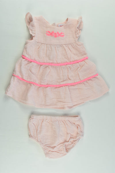 Sprout Size 000 Muslin Dress with Matching Bloomers