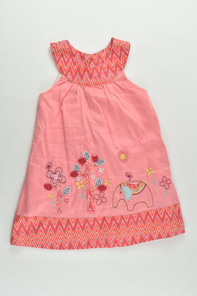 Sprout Size 1 Lined Elephant Dress