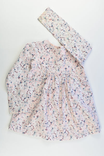 Sprout Size 2 Lined Floral Dress