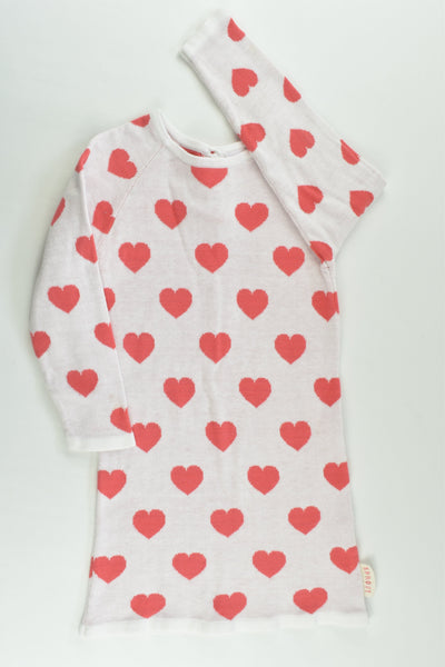 Sprout Size 2 Love Hearts Knitted Dress