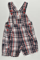St Bernard for Dunnes Size 0 (6-9 months) Checked Short Overalls