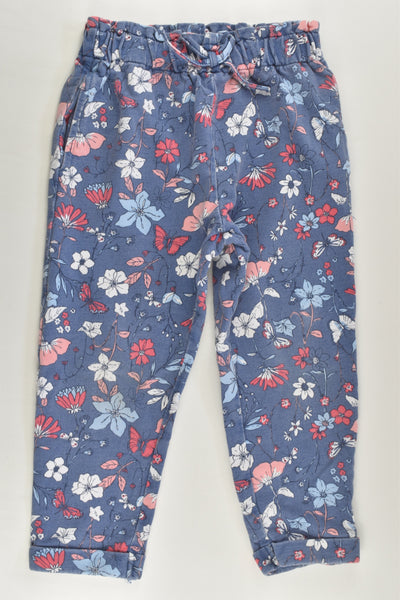 St Bernard for Dunnes Size 2-3 Faded-look Floral Track Pants