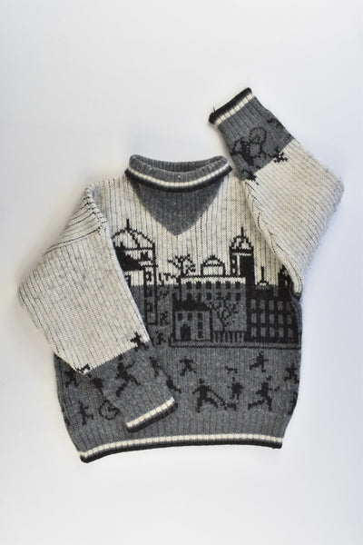 St Michael (UK) Size approx 3-4 Vintage Warm and Thick Knitted Jumper