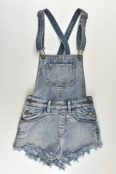 Supré Size 6 Stretchy Denim Short Overalls