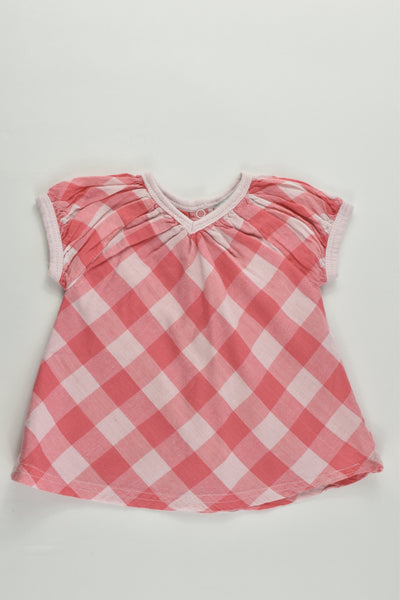 Tape à L'Oeil (France) Size 000 (3 months, 60 cm) Lined Checked Blouse