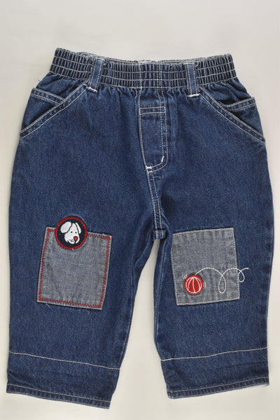 Target (Older Style) Size 0 Dog and Ball Denim Pants