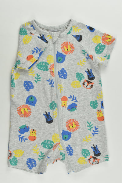 Target Size 0 (6-12 months) Colorful Animals Short Romper