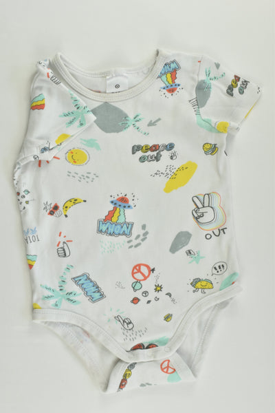 Target Size 0 (6-12 months) 'Peace Out, Totally Rad' Bodysuit