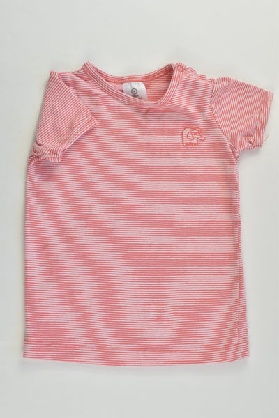 Target Size 0 (6-12 months) Striped Elephant T-shirt