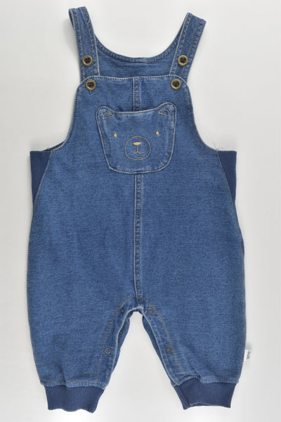 Target Size 00 (3-6 months) Teddy Stretchy Denim Overalls