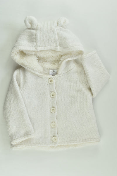 Target Size 00 (3-6 months) Warm Knitted Hooded Jumper