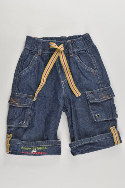 Target Size 00 'Happy Travels and Wild Adventures' Vintage Denim Shorts