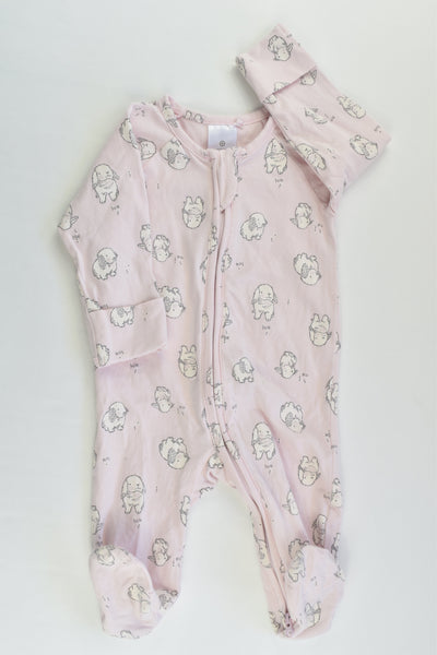 Target Size 000 (0-3 months) Bunnies Footed Romper