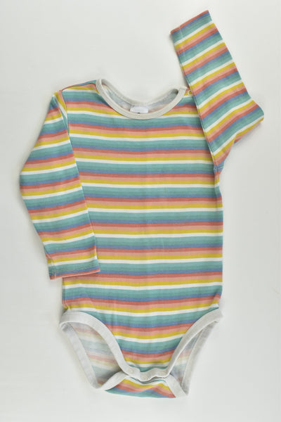 Target Size 1 (12-18 months) Striped Bodysuit