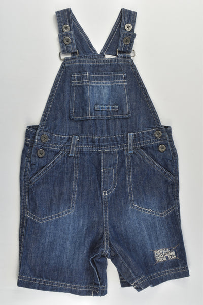 Target Size 1 'Pacific Coastguard Rescue Team' Short Denim Overalls