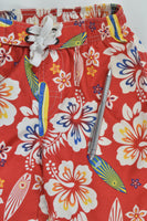 Target Size 2 Tropical Flowers and Surf Boards Board Shorts