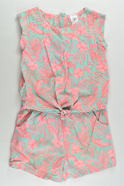 Target Size 6 Flowers and Leaves Playsuit