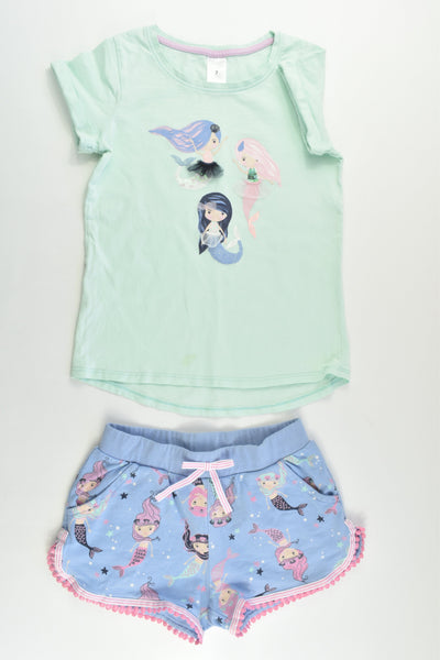 Target Size 6/7 Mermaid T-shirt and Shorts