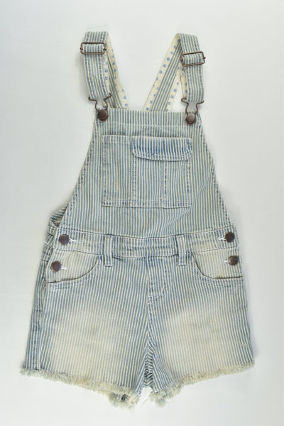 Target Size 7 Stretchy Striped Short Denim Overalls