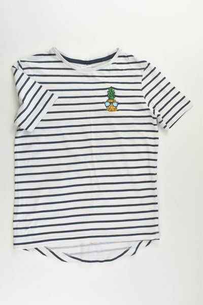Target Size 7 Striped Pineapple Patch T-shirt