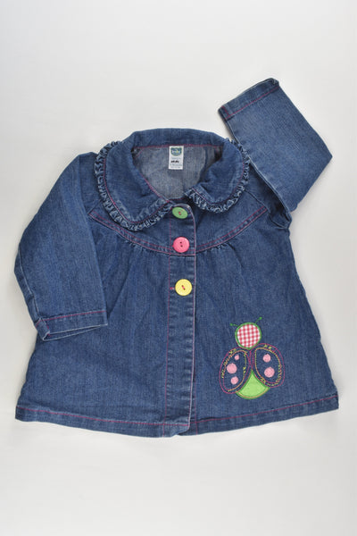 The Baby Company Size 1 Colourful Buttons and Ladybug Vintage (?) Denim Jacket