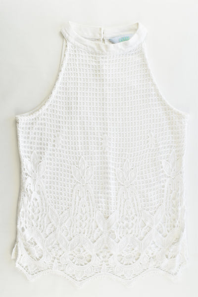 Tilii Size 12 Lined Lace Tank Top