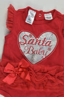 Tiny Little Wonders Size 0 (6-12 months) 'Santa Baby' Bodysuit